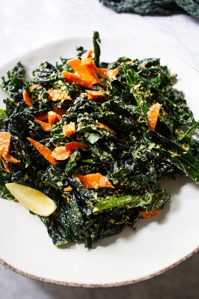 kale salad with nutritional yeast