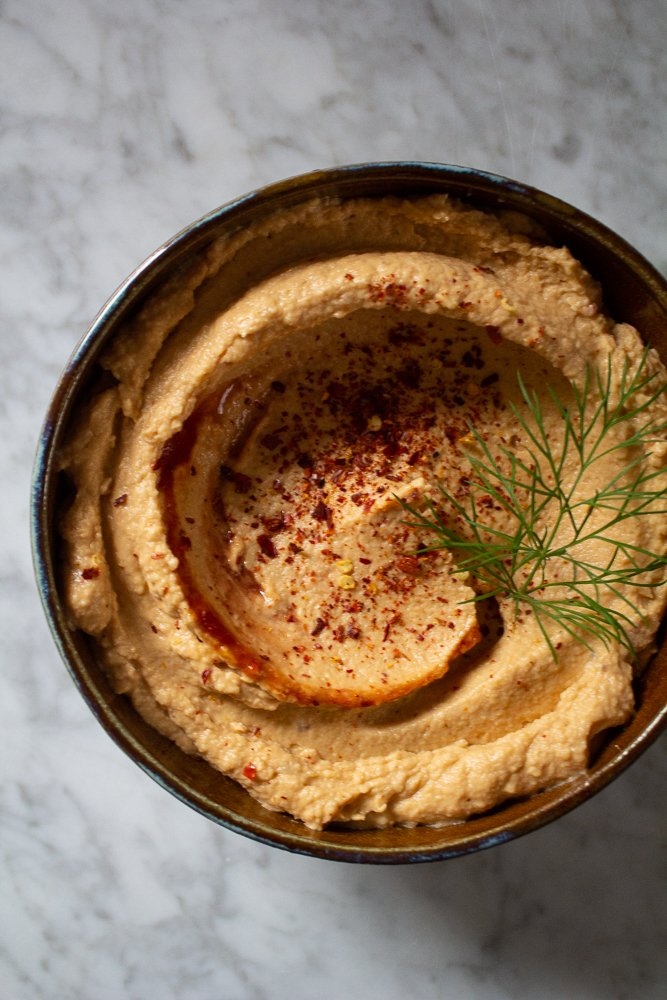 Roasted Red Pepper Hummus with Chipotle